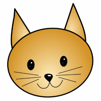 Cat. Cute ginger kitty. Photo Cut Out