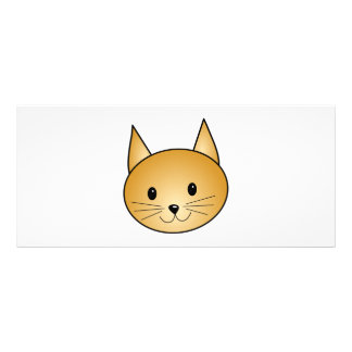 Cat. Cute ginger kitty. Rack Card Template