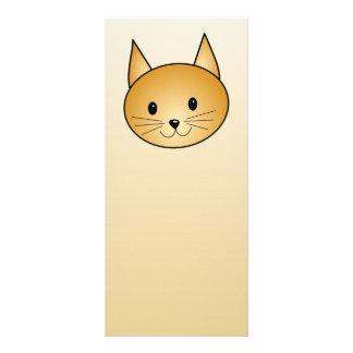 Cat. Cute ginger kitty. Full Color Rack Card