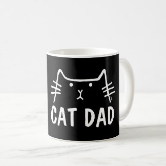 CAT DAD Black Coffee Mug