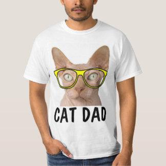 CAT DAD SPHYNX funny t-shirts