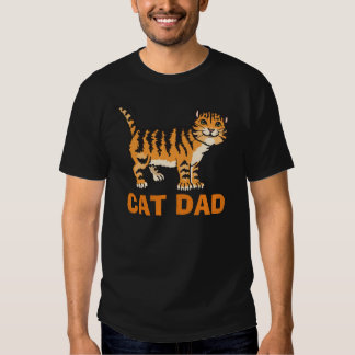 Cat Dad T-shirts, in Black Shirts
