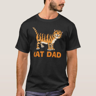 Cat Dad T-shirts, in Black T-Shirt