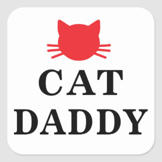 Cat Daddy Square Stickers