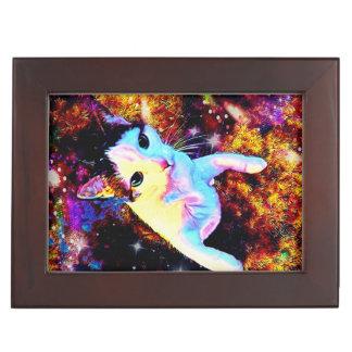 Cat Dance Kitty Colorful Cute Disco Keepsake Box