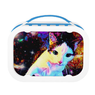 Cat Dance Kitty Colorful Cute Disco Lunchbox