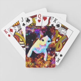 Cat Dance Kitty Colorful Cute Disco Playing Cards