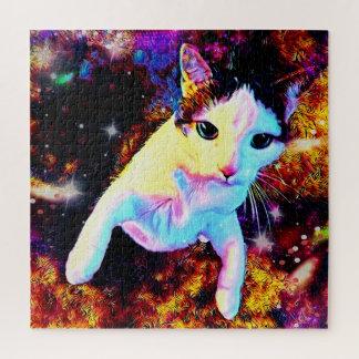 Cat Dance Kitty Colorful Disco Cute Square Puzzle