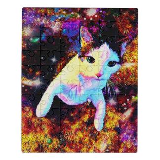 Cat Dance Kitty Colorful Fun Acrylic Jigsaw Puzzle