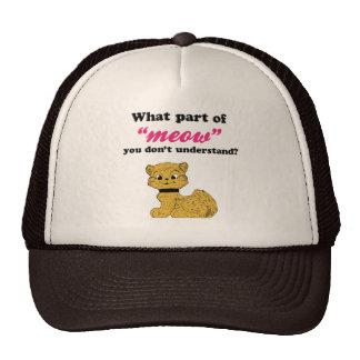Cat Demands - What Part of Meow? Mesh Hats