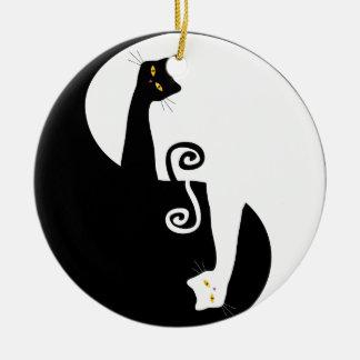 cat design ceramic ornament