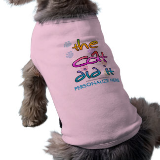 Cat Did It Pet Tee Shirt