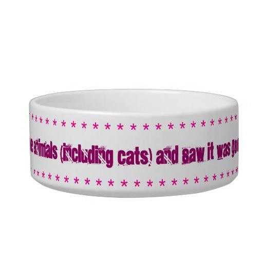 Cat dish, Gods creation verse. Cat Bowls