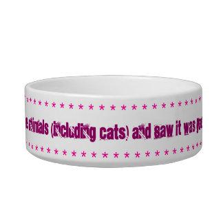 Cat dish, Gods creation verse. Pet Food Bowl
