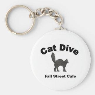 Cat Dive Key Chain