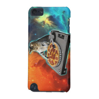 Cat dj with disc jockey's sound table iPod touch (5th generation) case