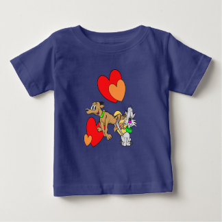 Cat & Dog Cartoon Baby Jersey T-Shirt