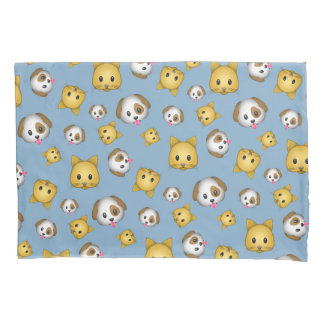 Cat & Dog Emoji Patterned Pillowcase