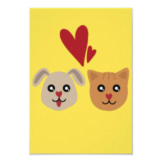 Cat Dog Lovers Greeting Card