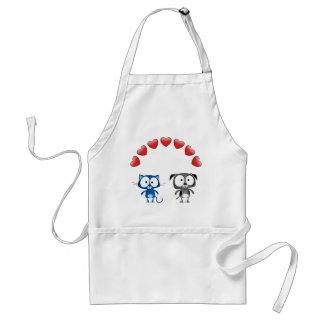 Cat dog valentine standard apron