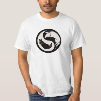 Cat-Dog Yin-Yang T Shirt