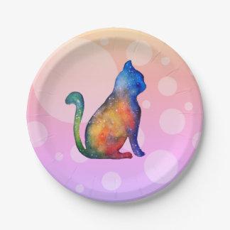 Cat Dots Custom Paper Plates 7 in