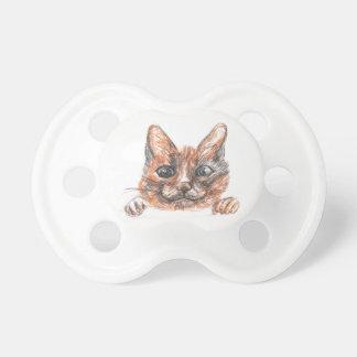 Cat drawing, cute kitten Pattern Pacifier
