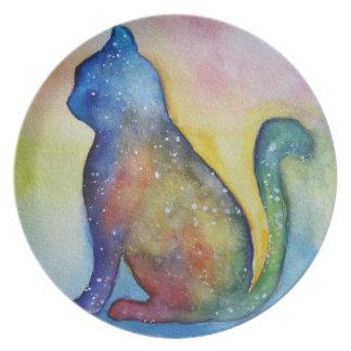Cat Drawing Melamine Plate