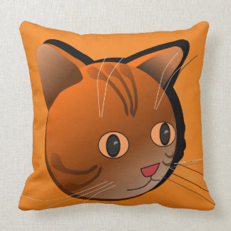 Cat Drawing Picture Print Pillow