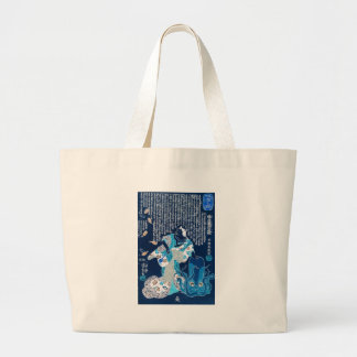 Cat dressed as a woman and octopus c.1800's tote bags