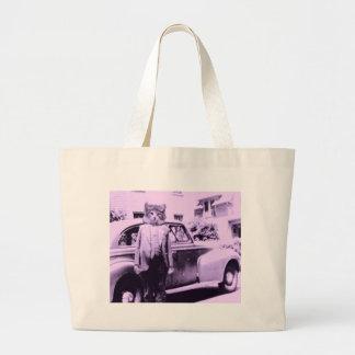 Cat Driver Tote Bags