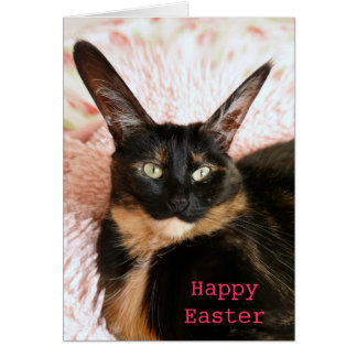 Cat Easter Bunny Card