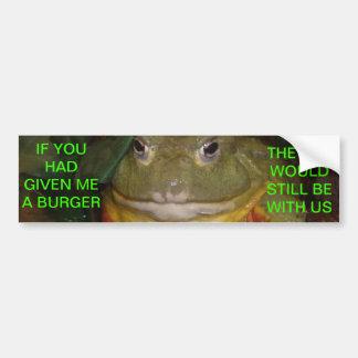 Cat Eating Frog Car Bumper Sticker