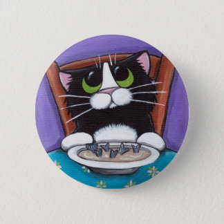 Cat Eating Soup Button