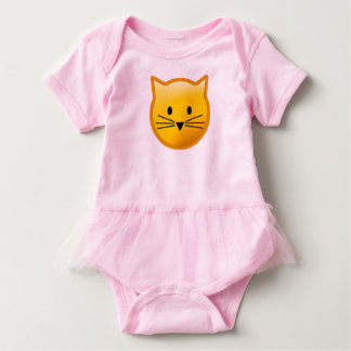 Cat Emoji Baby Bodysuit