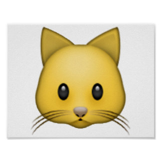 Cat - Emoji Poster