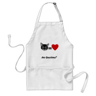 Cat Equals Love Standard Apron