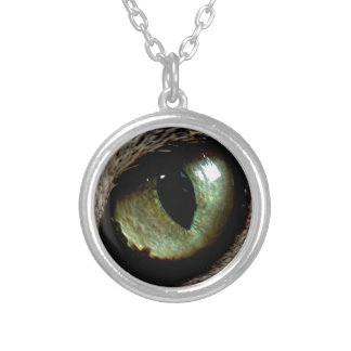 Cat Eye Silver Plated Necklace