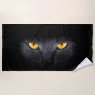 Cat Eyes Beach Towel