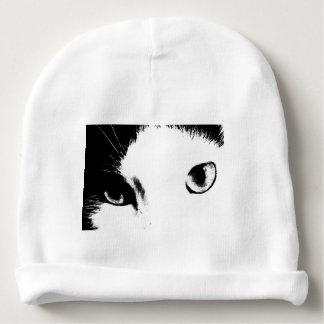 Cat Eyes (Black and White) Baby Beanie