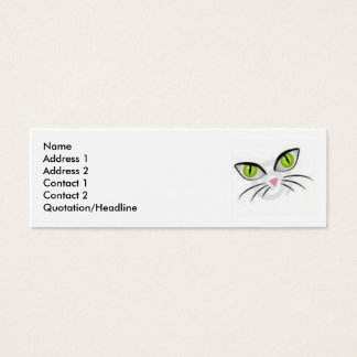 Cat Eyes Mini Business Card