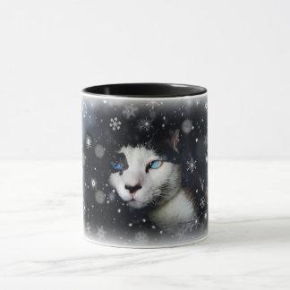 Cat Eyes & Snowflakes Mug