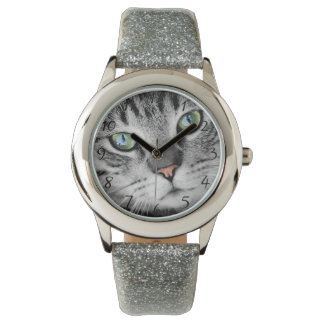 Cat eyes wristwatch
