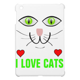 CAT Face Big Green Eyes Design Cover For The iPad Mini