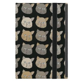 cat face black pattern case for iPad mini