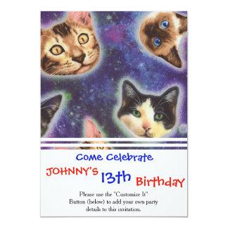 cat face - cat - funny cats - cat space card