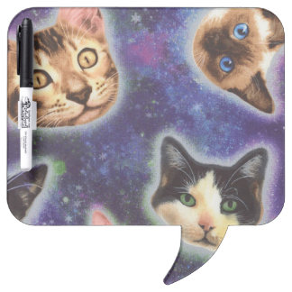 cat face - cat - funny cats - cat space dry erase board