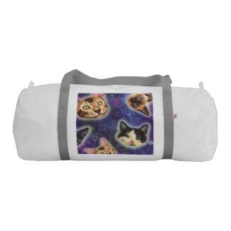 cat face - cat - funny cats - cat space gym duffel bag