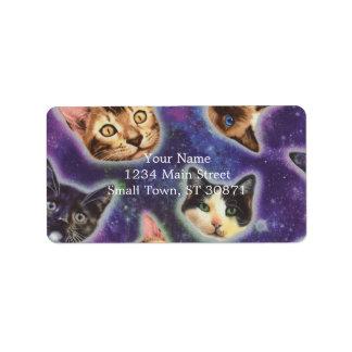 cat face - cat - funny cats - cat space label