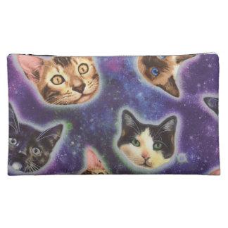 cat face - cat - funny cats - cat space makeup bag